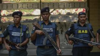 Bangladesh's security forces in Dhaka. Photo: May 2016