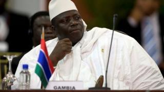 Jammeh alishindwa kwenye uchaguzi na Adama Barrow