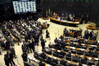 Votação no Congresso em Brasília