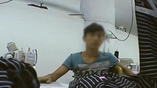 Child worker in garment factory