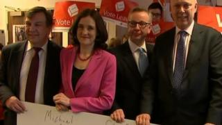 Theresa Villiers posed with other senior Conservatives to campaign for the UK to leave the EU