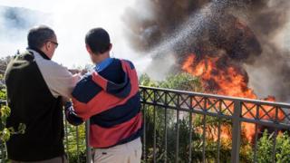 Пожар в Хайфе