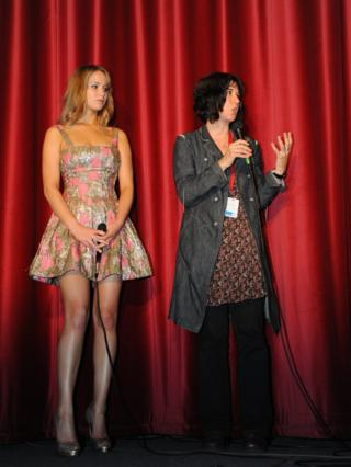 Then little-known Jennifer Lawrence attended EIFF in 2010 with director Debra Granik for the premiere of Winter's Bone, kicking off her very high heels during a Q&A at Filmhouse