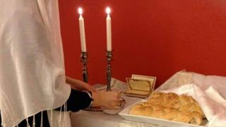 Ceremony at Jewish centre in Umea, Sweden
