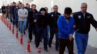 Задержанные в Турции
