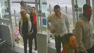 CCTV image of four people police want to speak to