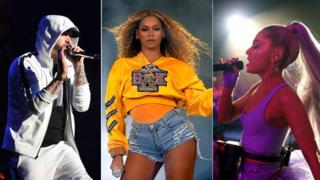 Eminem, Beyonce and Ariana Grande