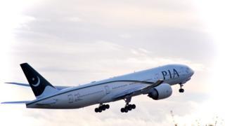 PIA plane taking off