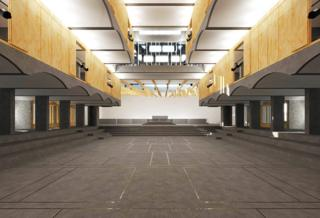 Architect's digital image of St Peter's proposed renovation, 2016