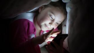 Phone at night