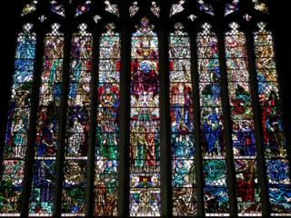 Stained glass window in Paisley Abbey
