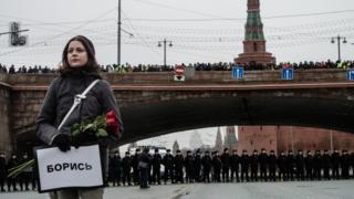 Немцов мост, митинг