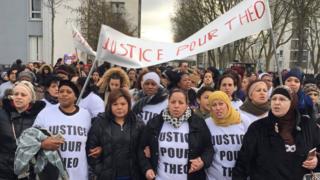 Protesta en Aulnay-sous-Bois