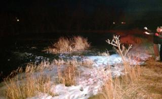 Frozen pond in New Harmony, Utah