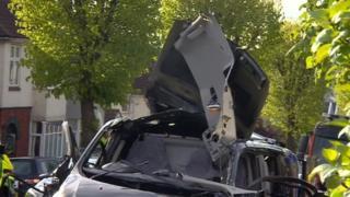 Van explosion