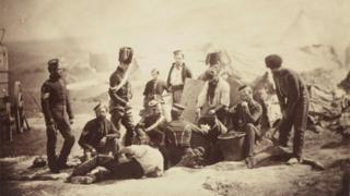 The 8th Hussars Cooking Hut, a photo by Roger Fenton