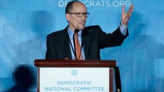 佩雷斯在民主黨全國代表大會發言。