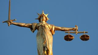 Lady Justice at the top of Old Bailey