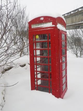 Phone box in the Cairngorms