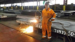 John McCreadie at Dalzell works