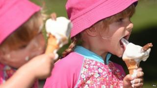 Slow melting ice cream