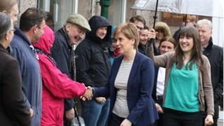 Nicola Sturgeon and voters