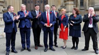 Jeremy Corbyn with Scottish Labour MPs