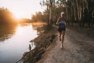 Mina Guli runs alongside the Murray River in Australia's Barmah National Park