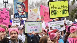 Women's March on Washington on January 21, 2017 in Washington DC