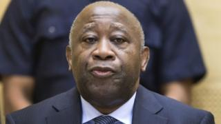This file photo taken on February 19, 2013 shows former Ivory Coast President Laurent Gbagbo attending a pre-trial hearing on charges of crimes against humanity at the International Criminal Court in The Hague
