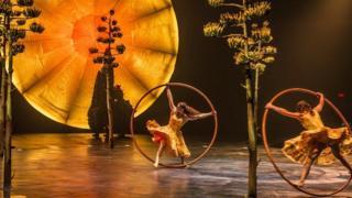 Un acto del Cirque du Soleil