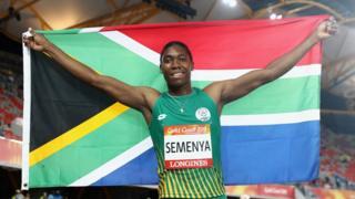 Semenya a remporté sa première médaille aux Jeux du Commonwealth.