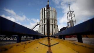 Fracking facility in Preston, Lancashire