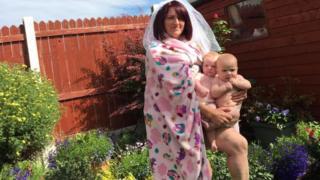 Sharon Kellaway and twins