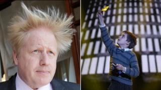 Boris Johnson and Charlie from Charlie and the Chocolate Factory