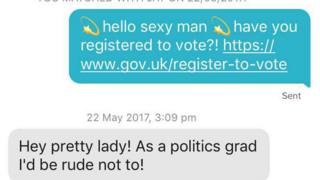 General choosing 2017: Labour romantic in Tinder voter registration drive
