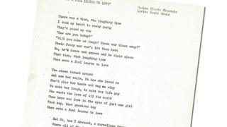 The lyrics to Even A Fool Learns To Love