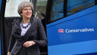 Theresa May in Cheltenham