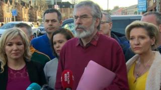 Dirigentes del Sinn Féin.