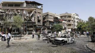 Suriye'nin başkenti Şam'da meydana gelen intihar saldırısı