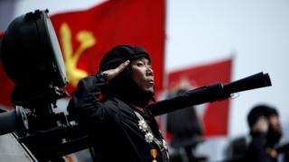 Накануне в столице КНДР прошел большой парад