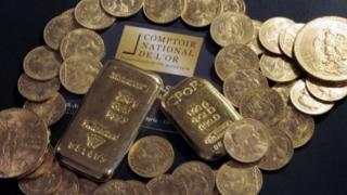 Bulunan altınlar