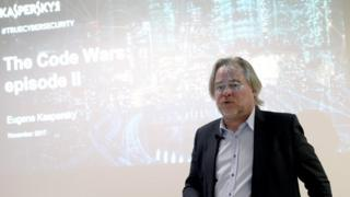 Eugene Kaspersky giving a presentation