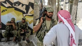 Cərəblusda Azad Suriya Ordusunun döyüşçüləri