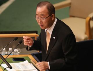 潘基文在联合国大会上发言(20/9/2016)
