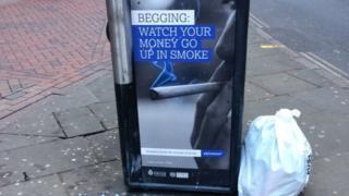 Anti-begging poster