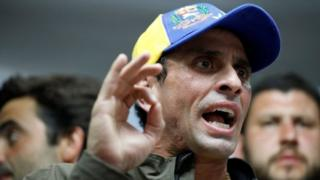 Venezuelan opposition leader and Governor of Miranda state Henrique Capriles in Caracas, Venezuela April 6, 2017