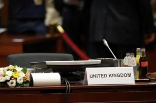 The UK seat at a summit in Brussels. Photo: 28 June 2016