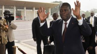 Le président Alassane Ouattara qui a réussi à trouver un accord avec les mutins de Bouaké (image d'archives)