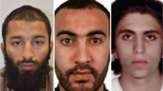 Londra Polisi üç saldırgan fotoğrafı